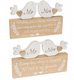 Mr & Mrs Love Birds Wooden Plaque Available in 2 Styles 67028